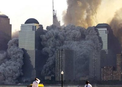NEW YORK'S WORLD TRADE CENTER COLLAPSES